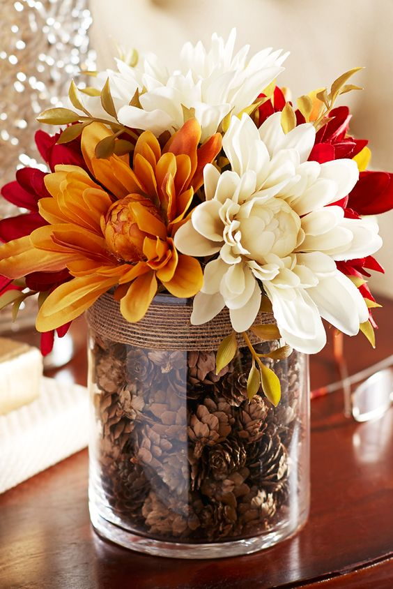 Flowers for fall decoration